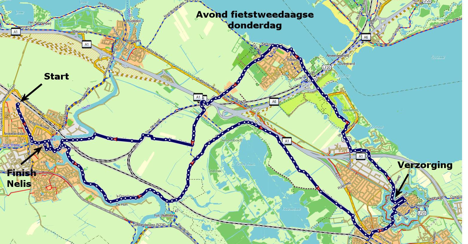 Route 2e dag