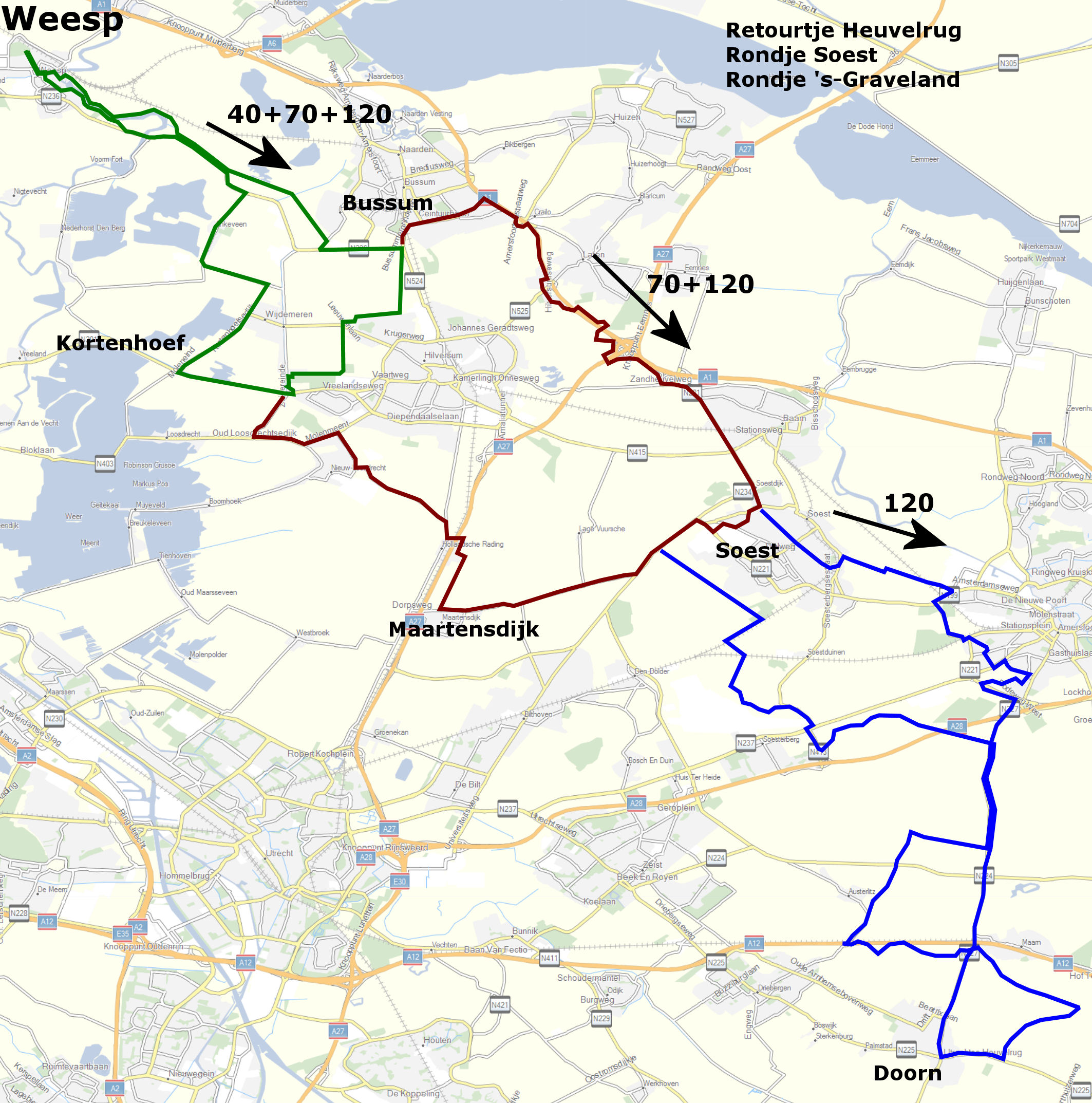 Heuveltocht-routes